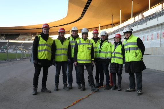 Arkkitehtisuunnittelun kansainväliseen työyhteenliittymään kuului stadion- ja korjaussuunnittelun asiantuntijoita